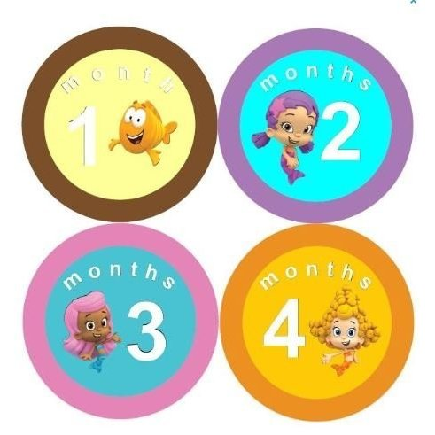 Monthly Stickers Baby Month Stickers Baby Girl Monthly Stickers Bubble Gupp