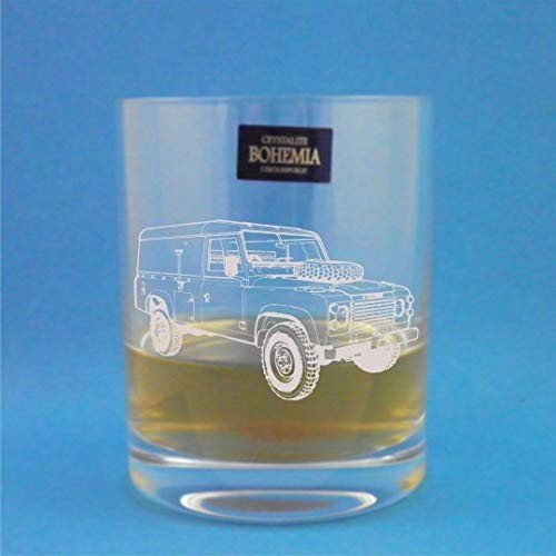 Bohemia Crystal Whisky Tumbler With Series 3 Land Rover Design Presented In