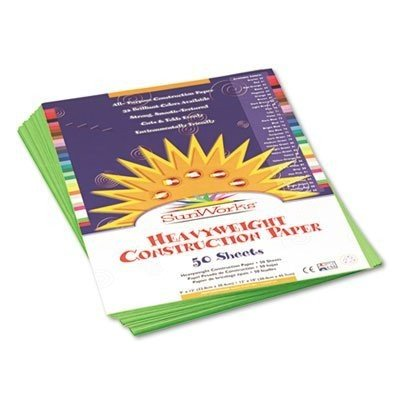 Sunworks 9X12 Bright Bright 緑 50Shts Construction Paper by Pacon