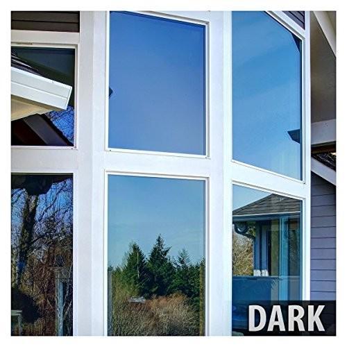 窓用フィルム プレミアムカラー 優れた断熱性と日中のプライバシー保護 ブルー 36 Inch x 100 Feet CPRBL1536X100 1