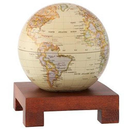 [ムーバ]Mova 6 Antique Gloss Finish Finish Globe with Square Base in Natural Wood MG-