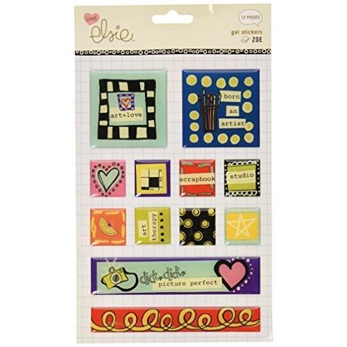 Ki Ki Memories KI Memories Zoe Epoxy Stickers, Square Gel by KI Memories