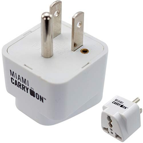 Naftali TLK303WH Travel Adapter White Cooper Plug In Blister