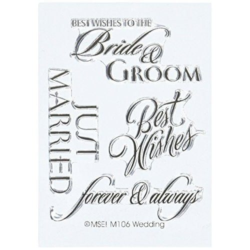 MSE Wedding My Sentiments Stamps Sheet, 3 by 4, Clear Clear Clear by MES 74c