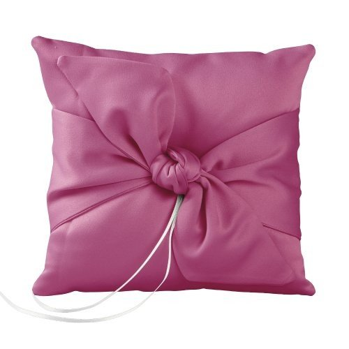 Ivy Lane Design Love Knot Ring Pillow, Fuchsia