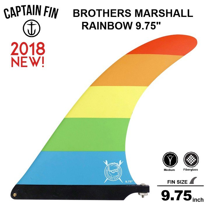 CAPTAIN FIN キャプテンフィン 9.75 シングル フィン BROTHERS MARSHALL RAINBOW 9.75 ロングボードセンターフィン シングル フィン 送料無料!!