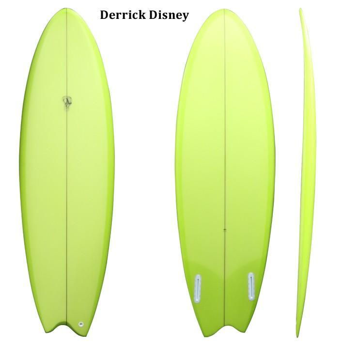 "DERRICK DISNEY SURFBOARDS デリック ディズニーシェイプ FISH ASYM MODEL 5'5"" VISSLA(ヴィスラ)の看板ライダーDERRICK DISNEYシェイプ 送料無料"