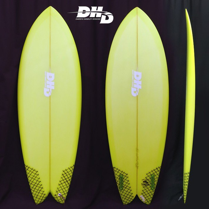 "DHD SURFBOARDS DHD サーフボード Mini Twinミニツイン Green Resin Tint 5'7"" 30L アッシャー・ペイシーシグネチャー"