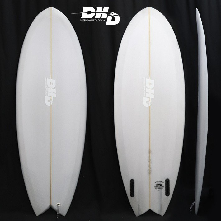 【DHD SURFBOARDS】DHD サーフボード 2019年モデル MINI TWIN2 ミニツイン2 5'1 27L GREY RESIN TINT FUTURE