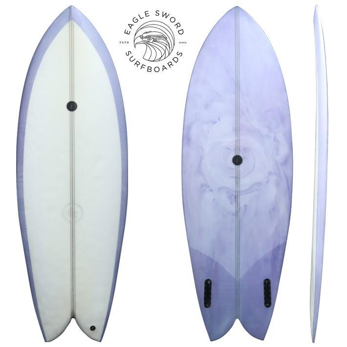 """超爆安 【】サーフボード 使用状態 【B】★★☆ Eagle Sword Surfboards イーグル ソードサーフボード FDK 5'3"""" FIN付き Hand shaped custom surfboards ma, RareCaseSHOP 47007b6b"""