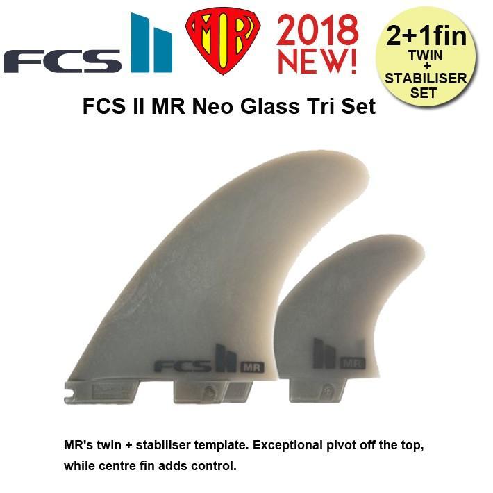 FCS2 フィン MR PC Tri Set MR's twin + stabiliser template FCS2 フィン ツイン+スタビ サーフィン サーフボード 送料無料!