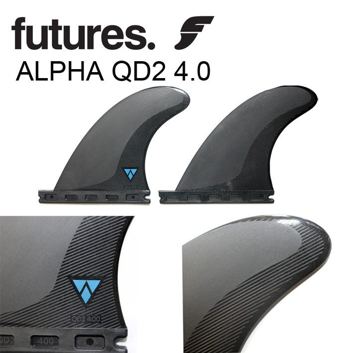 【FUTURES FIN】フューチャーフィン 【ALPHA QD2 4.0 (M)】QUAD REAR クアッドリアフィン 2FIN ショートボード クアッド リア