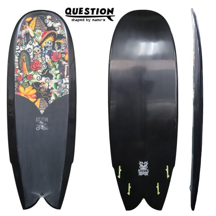 "【QUESTION SURFBOARDS】クエスチョン サーフボード TRICKYオリジナルボード ""SK8 FISH""5'2"