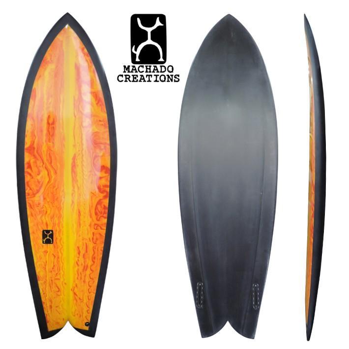 激安本物 【ROB 世界限定 MACHADO MACHADO SURFBOARDS】ロブマチャドサーフボード GO FISH 5'9