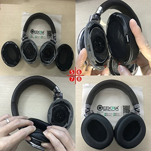 Geekria イヤーパッド Sony MDR-1R, MDR-1RMK2 ヘッドホンパッド イヤークッション (コーヒー/ブラウン)|twopieces|06