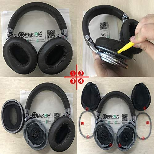 Geekria イヤーパッド Sony MDR-1R, MDR-1RMK2 ヘッドホンパッド イヤークッション (コーヒー/ブラウン)|twopieces|07