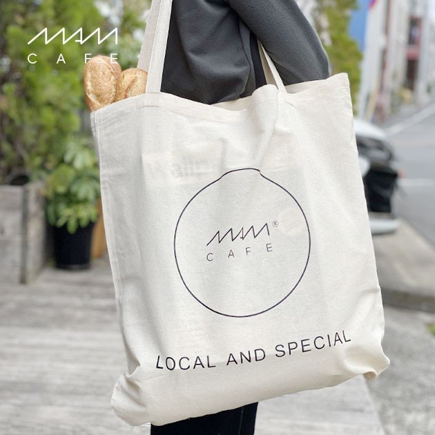 MAM CAFE / MAM GRAND TOTE エコバッグ トートバッグ 持ち手 長め 大きめ|tycoon