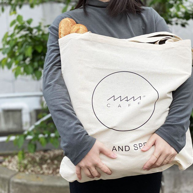 MAM CAFE / MAM GRAND TOTE エコバッグ トートバッグ 持ち手 長め 大きめ|tycoon|02