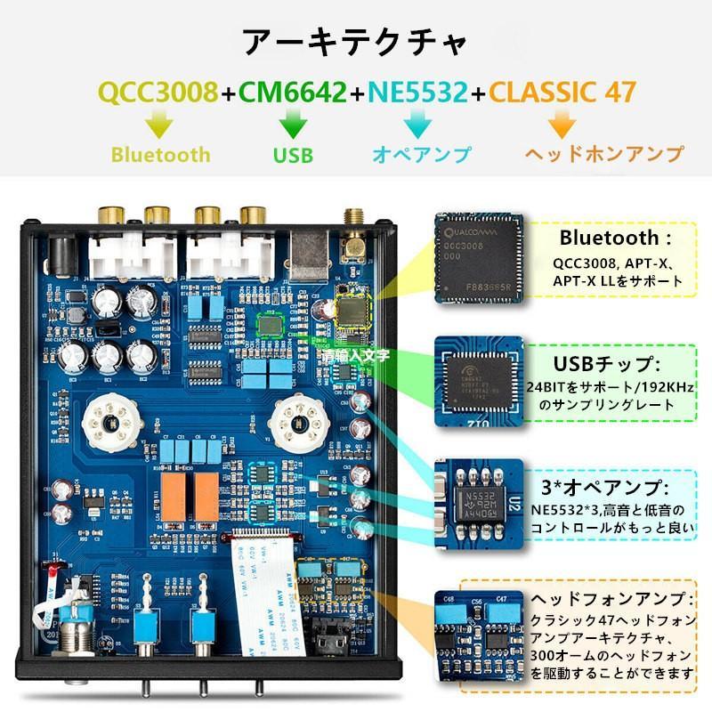 Nobsound P1 RPO HiFi Bluetooth 5.0 真空管プリアンプ USB DAC APTX プリアンプ tysj-online 13