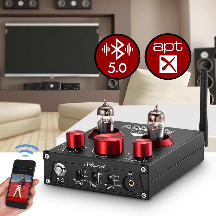 Nobsound P1 RPO HiFi Bluetooth 5.0 真空管プリアンプ USB DAC APTX プリアンプ tysj-online 15