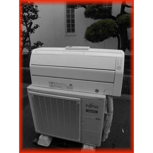 家庭用ルームエアコン 2.2k〜6畳用 富士通 ノクリア AS-R22G-W 自動フィルター掃除機能 2017年製 壁掛け用 現状 冷房 暖房 100V|tyubo110