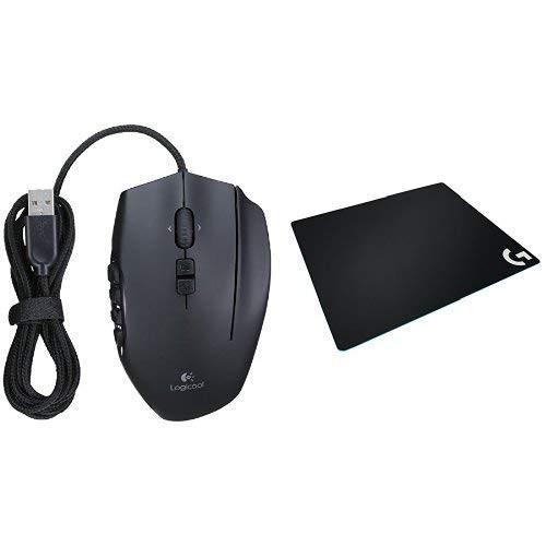 ロジクール ゲーミングマウス G600t + PUBG JAPAN SERIES 2018推奨ギアゲーミング マウスパッド G640r ラー