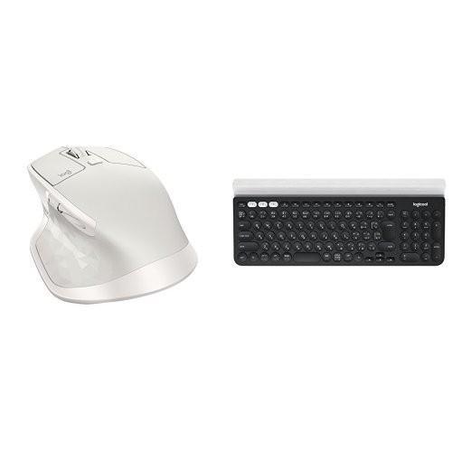 ロジクール FLOW機能セット ワイヤレスマウス MX2100sGY + フルサイズ青tooth高機能キーボード K780