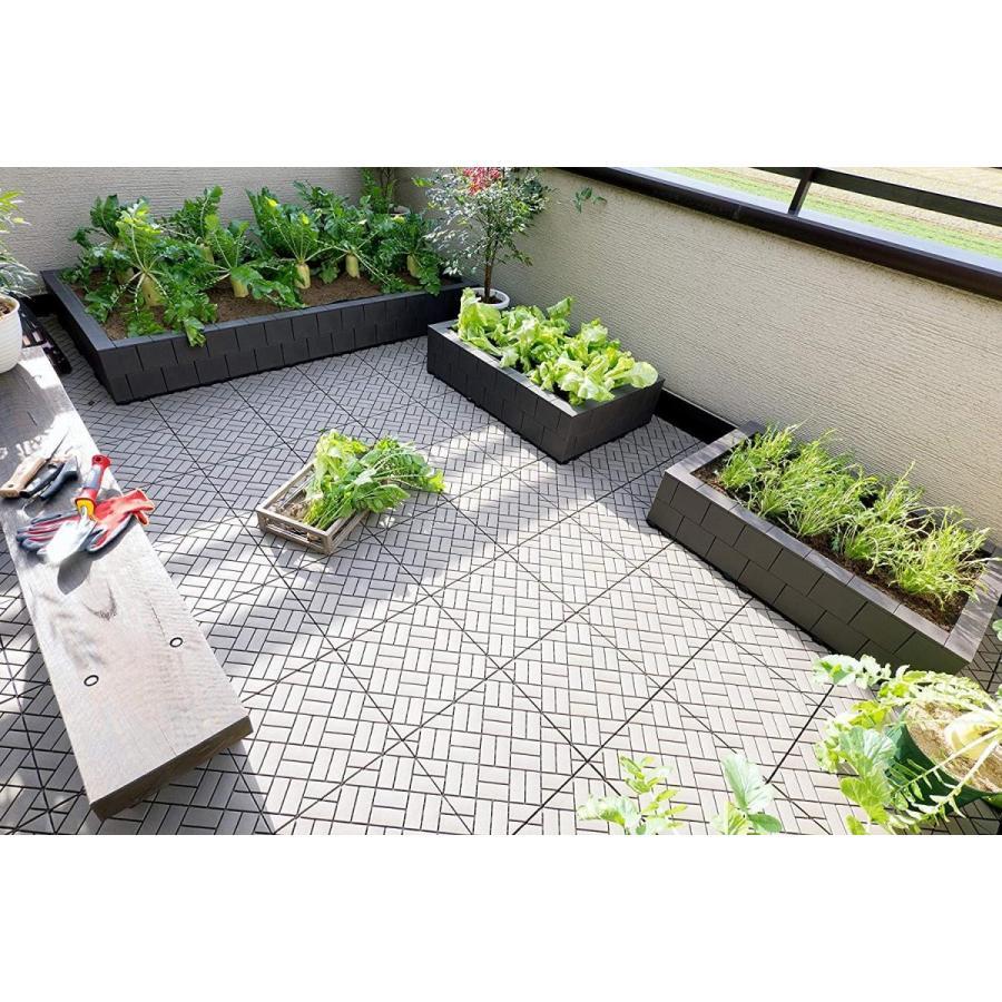 システムファーム(組立て式花壇・菜園) 60cm×90cm×2段 セット チャコールブラウン
