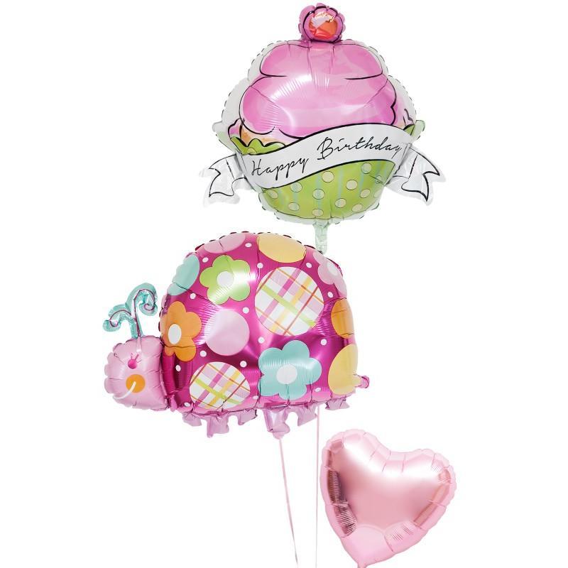 バルーン ギフト 誕生日 電報 風船 装飾 カップケーキ ぞうさん 誕生日バルーン136