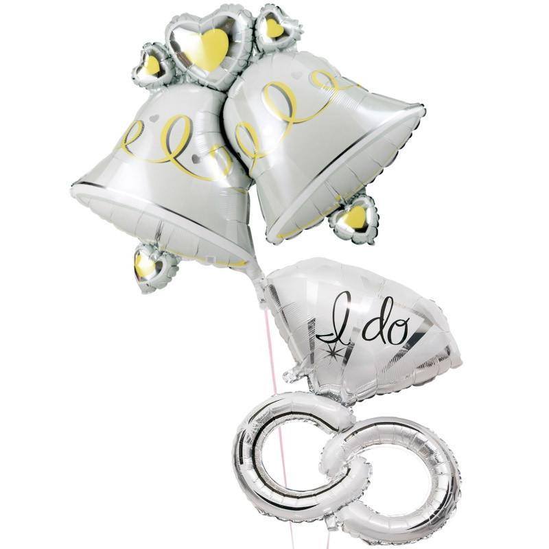 バルーン 結婚式 電報 風船 装飾 ギフト ウェディング リング ベル 結婚式バルーン78