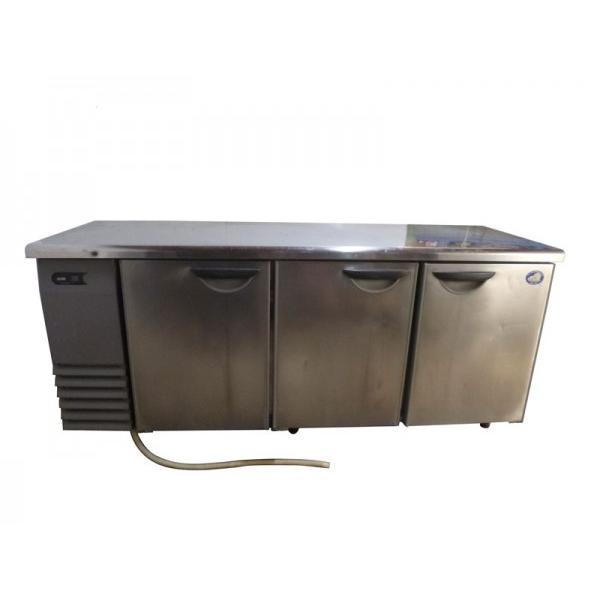 ◆FH3102|台下冷蔵庫 コールドテーブル サンヨー SUR-F1861SA W1800×D600×H800mm 中古 業務用 厨房用