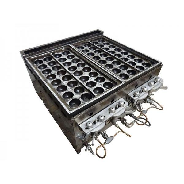 ■GJ2001 業務用 たこ焼き器 都市ガス 16個×4連 W560×D540(650)×H330mm 厨房用 中古