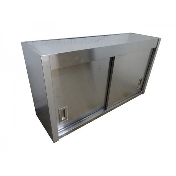 ●HC0202|吊戸棚 食器庫 食器庫 食器庫 ラック ステンレス W1150×D350×H620mm 業務用 厨房用 中古 1d9