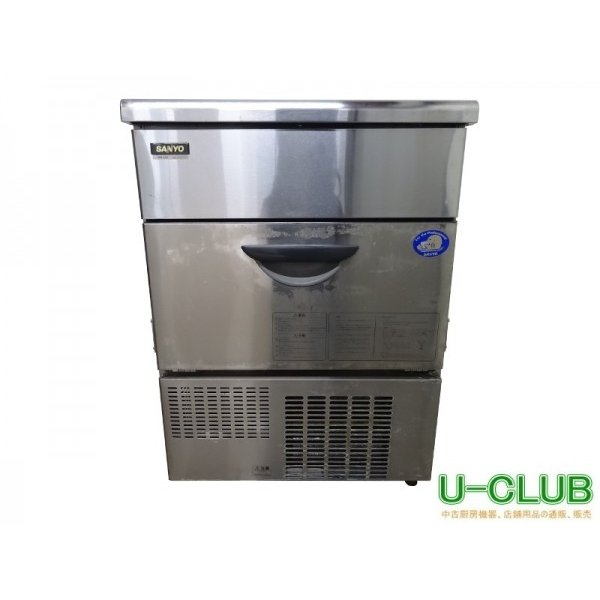 ●IC2611|製氷機 SIM-S58 サンヨー W630×D500×H860mm 業務用 中古 キューブアイスメーカー