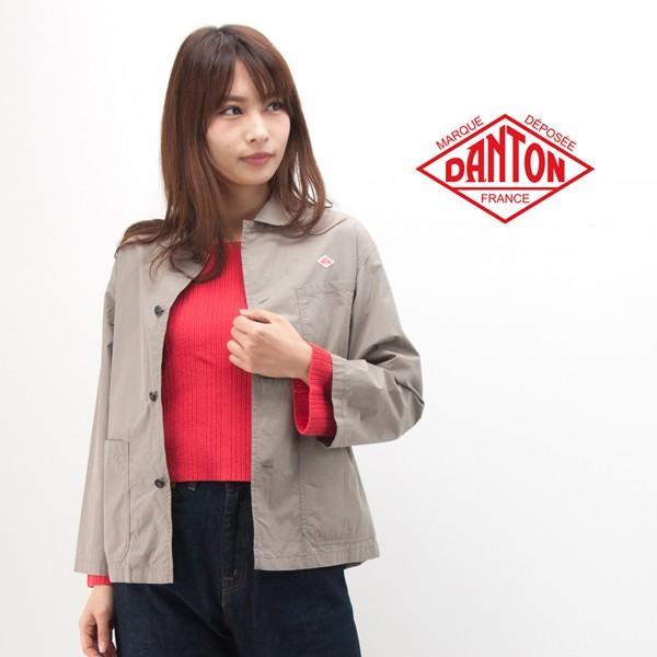 新発売の (SOLDOUT)DANTON ダントン レディース コットンポプリン カバーオールシャツジャケット(JD-8893MSA)(2018SS), With a pet 5b190d13