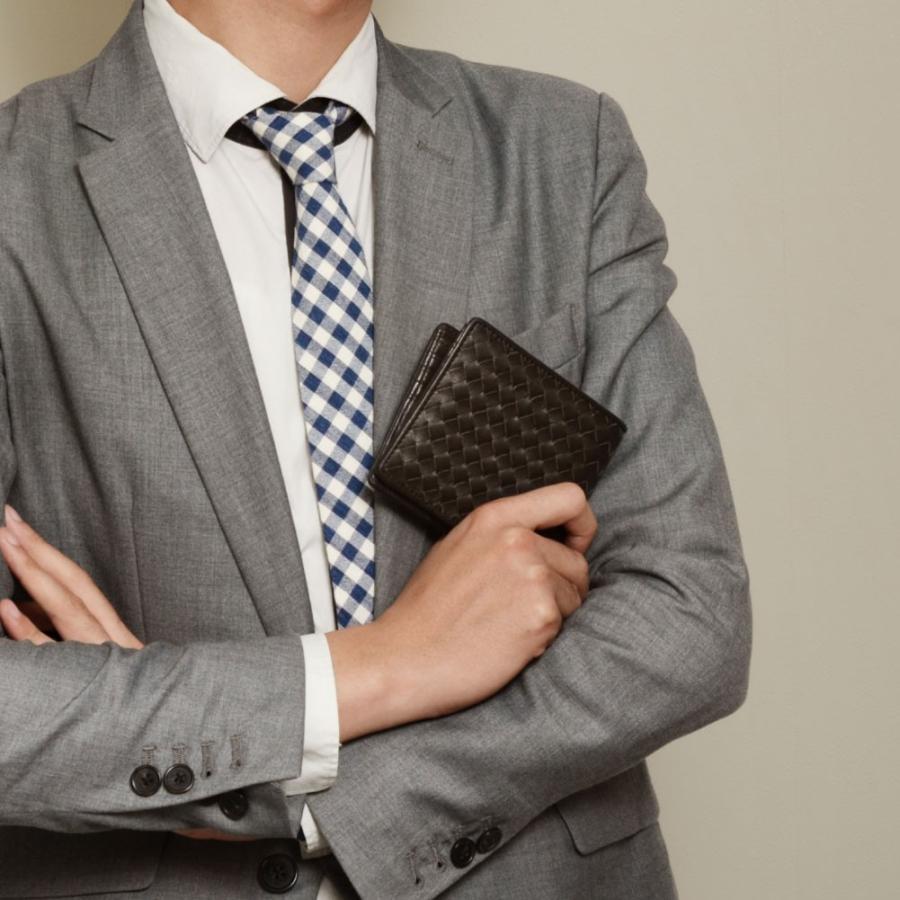 二つ折り財布 財布 本革  ユニセックス ギオネ イントレチャート ウォレット 編み込み ラムレザー メンズ レディース|u-stream|15