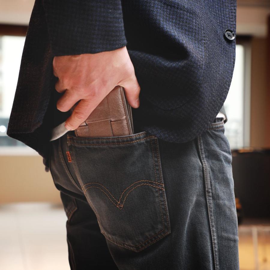 二つ折り財布 財布 本革  ユニセックス ギオネ イントレチャート ウォレット 編み込み ラムレザー メンズ レディース|u-stream|18