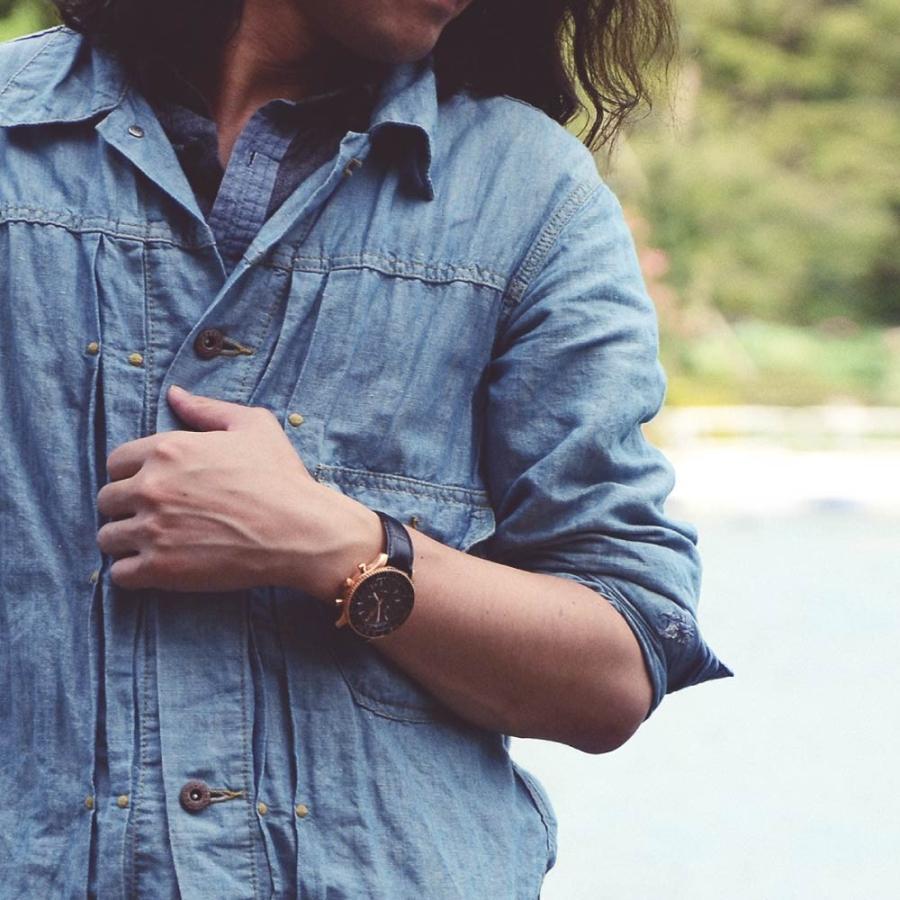 腕時計 メンズ おしゃれ アナログ ウォッチ パイロット クロノグラフ ビジネス 革 メンズ腕時計 フライトタイマー|u-stream|12