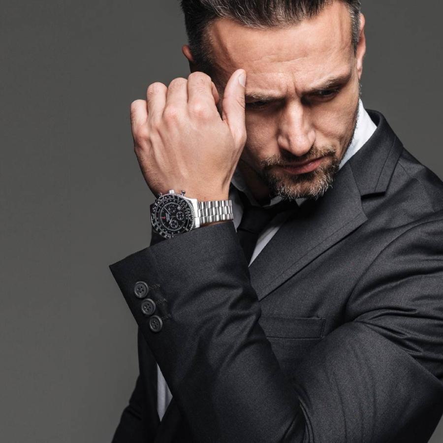 腕時計 メンズ おしゃれ アナログ ウォッチ パイロット クロノグラフ ビジネス 革 メンズ腕時計 フライトタイマー|u-stream|13