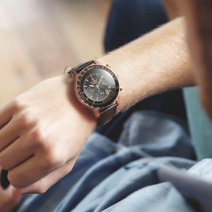 腕時計 メンズ おしゃれ アナログ ウォッチ パイロット クロノグラフ ビジネス 革 メンズ腕時計 フライトタイマー|u-stream|14