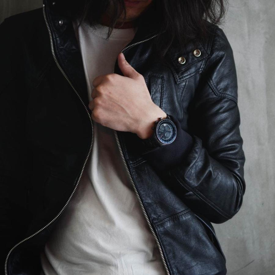 腕時計 メンズ おしゃれ アナログ ウォッチ パイロット クロノグラフ ビジネス 革 メンズ腕時計 フライトタイマー|u-stream|15