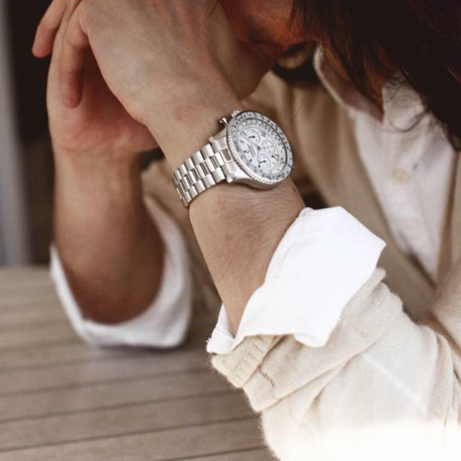 腕時計 メンズ おしゃれ アナログ ウォッチ パイロット クロノグラフ ビジネス 革 メンズ腕時計 フライトタイマー|u-stream|16