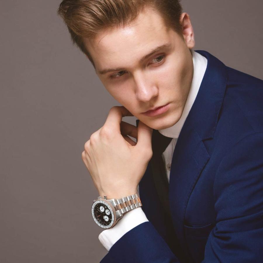 腕時計 メンズ おしゃれ アナログ ウォッチ パイロット クロノグラフ ビジネス 革 メンズ腕時計 フライトタイマー|u-stream|17