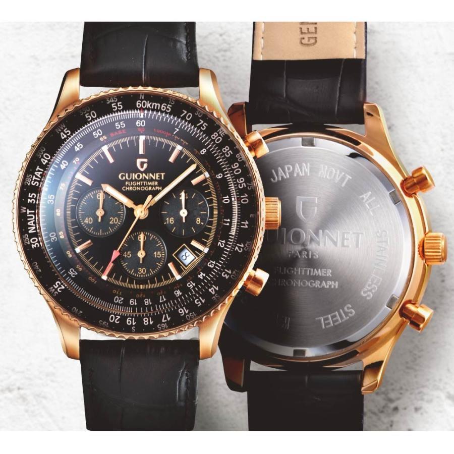 腕時計 メンズ おしゃれ アナログ ウォッチ パイロット クロノグラフ ビジネス 革 メンズ腕時計 フライトタイマー|u-stream|06