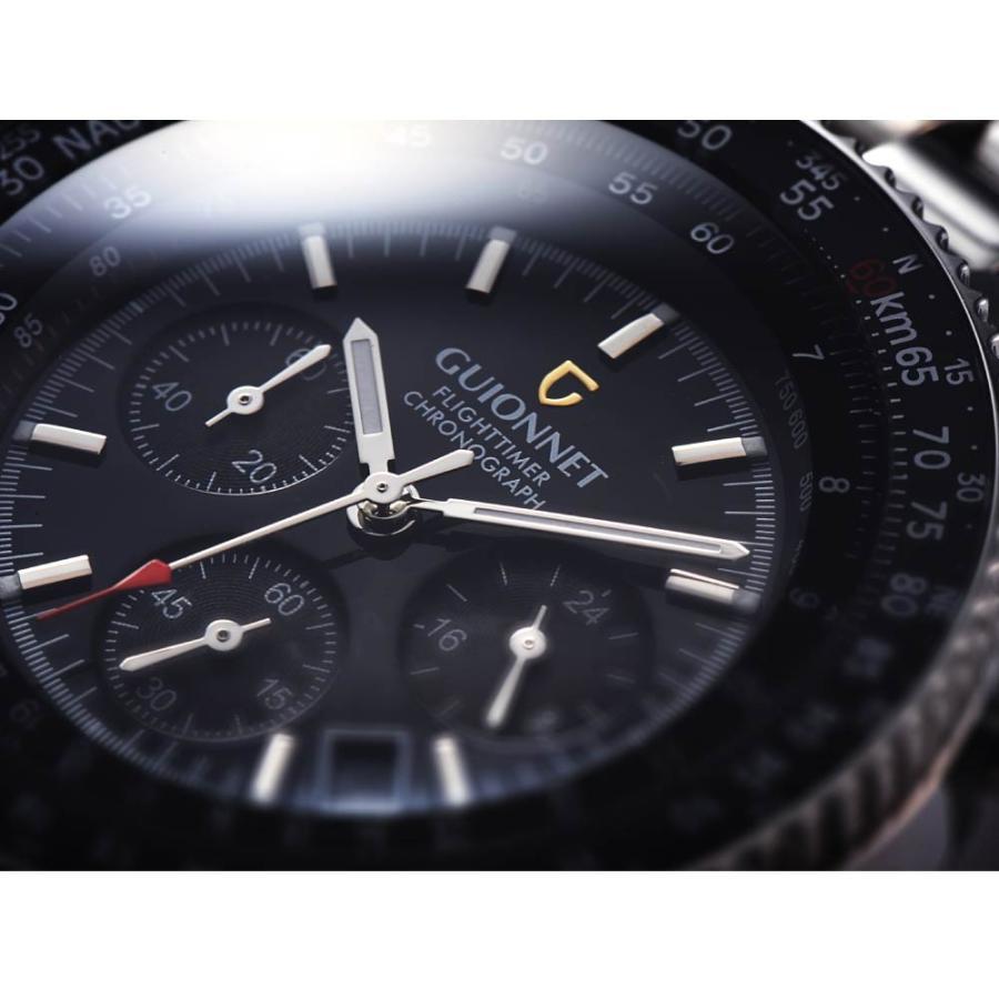腕時計 メンズ おしゃれ アナログ ウォッチ パイロット クロノグラフ ビジネス 革 メンズ腕時計 フライトタイマー|u-stream|07