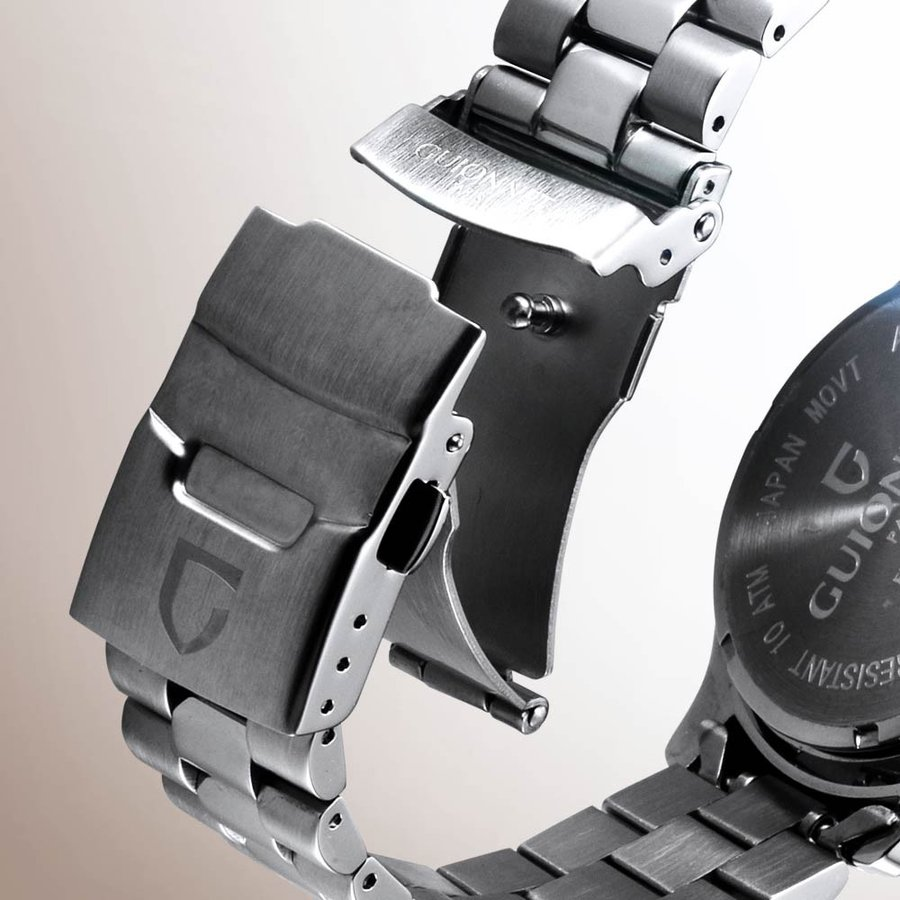 腕時計 メンズ おしゃれ アナログ ウォッチ パイロット クロノグラフ ビジネス 革 メンズ腕時計 フライトタイマー|u-stream|08
