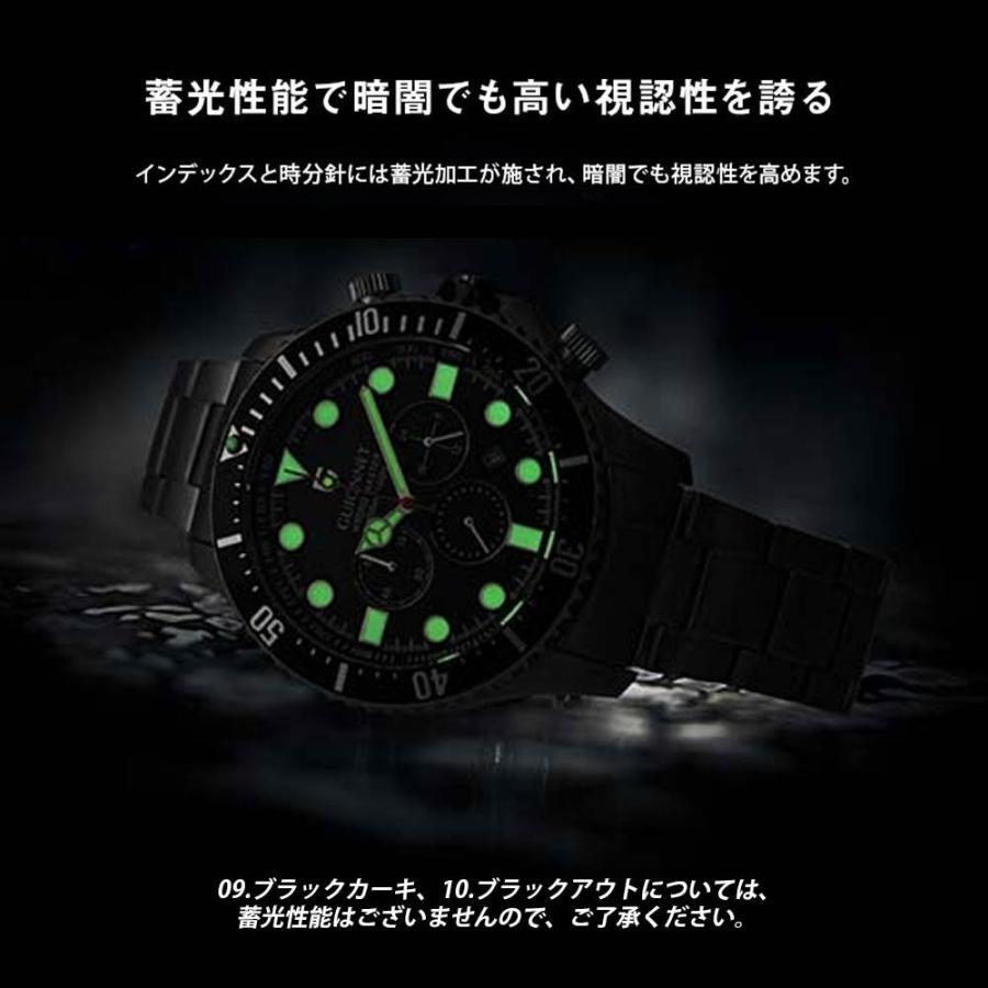 時計 人気 メンズ 腕時計 ダイバーズ クロノグラフ メンズ腕時計|u-stream|12