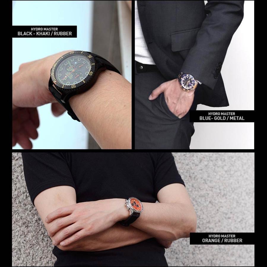 時計 人気 メンズ 腕時計 ダイバーズ クロノグラフ メンズ腕時計|u-stream|15