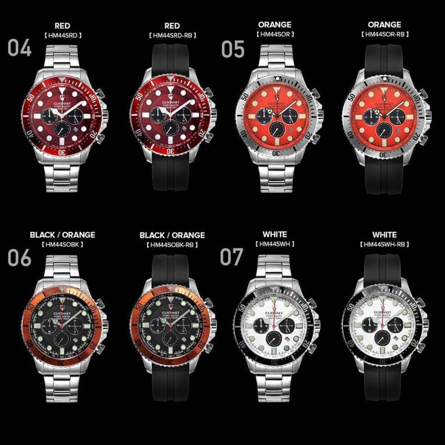 時計 人気 メンズ 腕時計 ダイバーズ クロノグラフ メンズ腕時計|u-stream|03