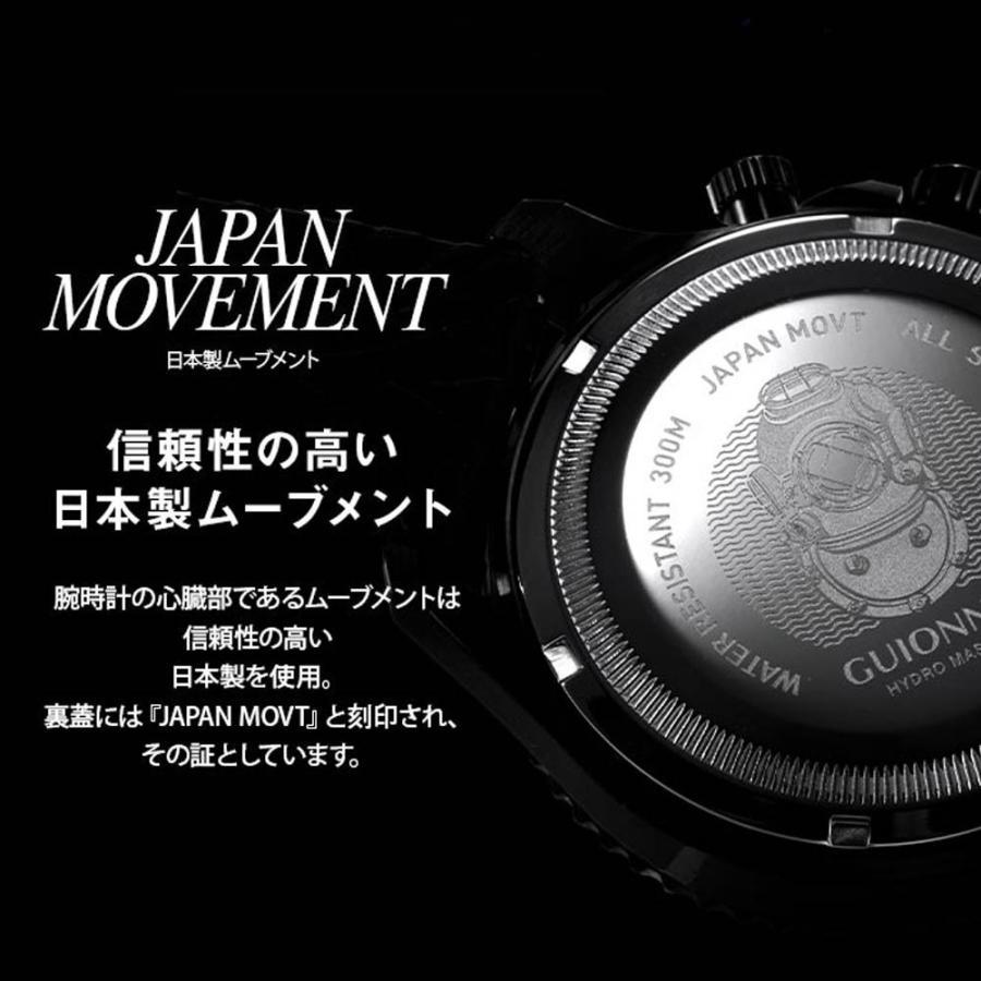 時計 人気 メンズ 腕時計 ダイバーズ クロノグラフ メンズ腕時計|u-stream|06